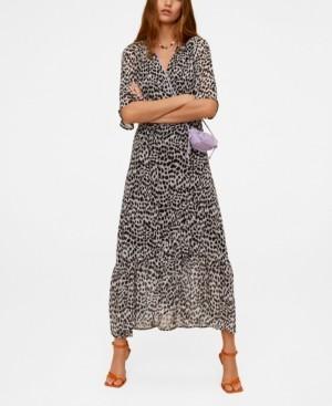 MANGO Women's Print Wrap Dress