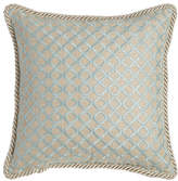 """Dian Austin Couture Home Hydrangea Embroidered Ogee Pillow, 16""""Sq."""
