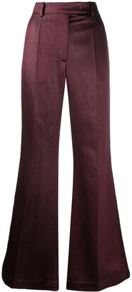 Joseph Flared Pleat Front Trousers