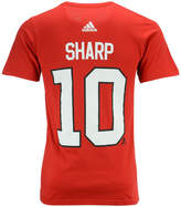 adidas Men's Patrick Sharp Chicago Blackhawks Silver Player T-Shirt