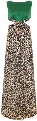 Miu Miu Leopard-Print Maxi Dress