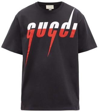 Gucci Blade Logo-print Cotton T-shirt - Black