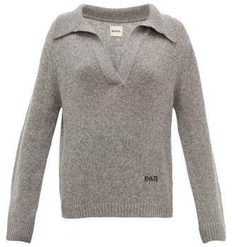 KHAITE Marisa Open-collar Cashmere Sweater - Womens - Grey