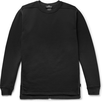 Stone Island Shadow Project Shell-Trimmed Panelled Tech-Jersey And Fleece Sweatshirt