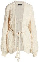 Alanui Torchon Stitch Belted Cardigan