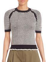 3.1 Phillip Lim Striped Short Sleeve Sweater