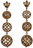 Lele Sadoughi Tiered Pineapple Drop Earrings