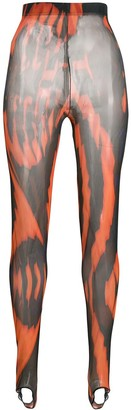 Chopova Lowena sheer striped performance tights