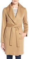 Fleurette Shawl Collar Cashmere Wrap Coat (Regular & Petite)