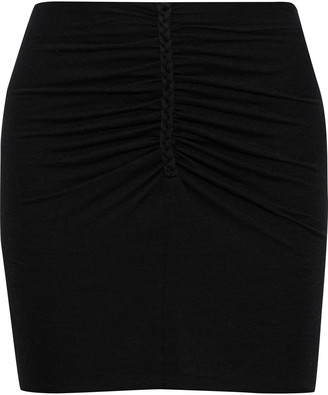 IRO Wily Ruched Stretch-jersey Mini Skirt
