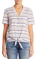 Equipment Keira Striped Blouse