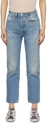 RE/DONE Blue 70s Stove Pipe Jeans