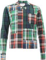 Kolor plaid patchwork shirt jacket