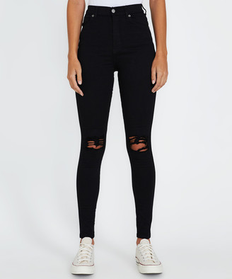 Dr. Denim Moxy Ripped Jeans Black