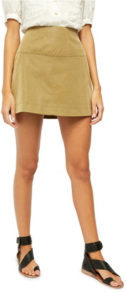 Free People Days in the Sun Faux Suede Miniskirt