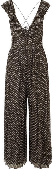 Zimmermann Cascade Ruffled Polka-dot Silk-georgette Jumpsuit