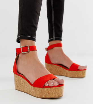 New Look flatform sandal in bright orange