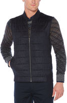 Perry Ellis Quilted Faux Suede Vest