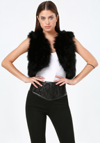 Bebe Feather Vest