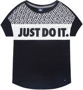 Nike Short-Sleeve Just Do It Knit Top - Preschool Girls 4-6x