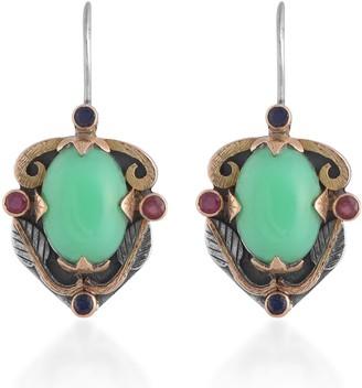 Emma Chapman Jewels Ambar Chrysoprase Ruby Sapphire Earrings
