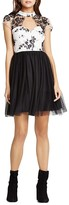 BCBGeneration Cutout Illusion Yoke Dress