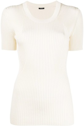 Joseph ribbed knit T-shirt