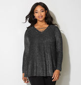 Avenue Shimmer Chain Lace-Up Tunic