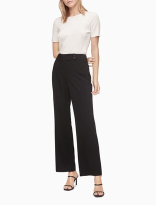 Calvin Klein Curvy Straight Leg Black Pants