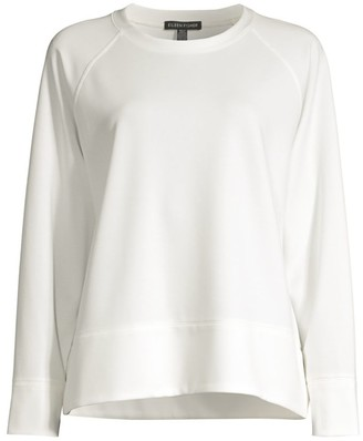 Eileen Fisher Long-Sleeve Jersey Knit Top