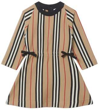 Burberry Kids Icon Stripe Ties Dress