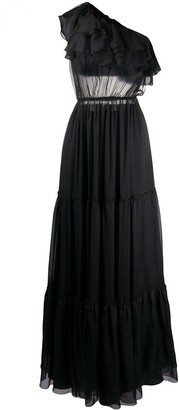 FEDERICA TOSI one shoulder ruffled dress
