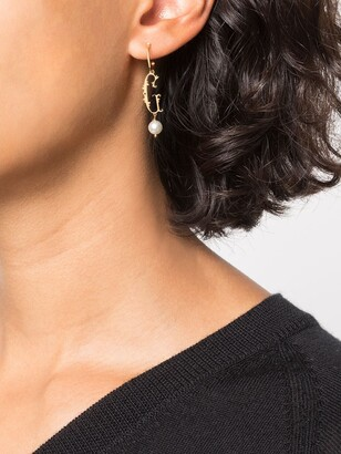 Simone Rocha G initial single hoop earring