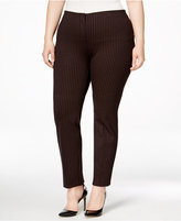 Alfani Plus Size Hollywood Printed Skinny Pants, Only at Macy's