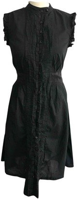 Religion Black Cotton Dress for Women