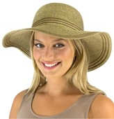 Jendi Lurex Wide Brim Floppy Hat