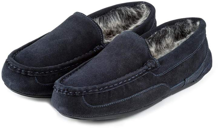 6ab3b26f8cf6e Navy Moccasins Slippers For Men - ShopStyle UK