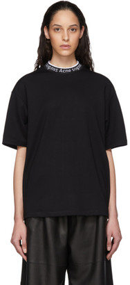 Acne Studios Black Logo Neck T-Shirt