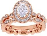 Stella Grace 10k Rose Gold Lab-Created Moissanite Infinity Engagement Ring Set