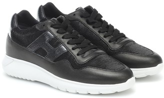 Hogan Cube leather sneakers