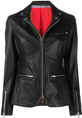 Alexander Wang Faux-Leather Zipped Blazer