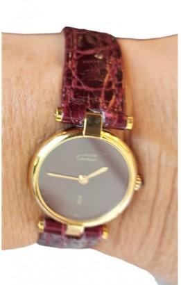 Cartier Must Vendome Burgundy Silver Gilt Watches