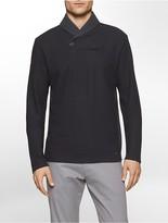 Calvin Klein Colorblock Shawl Collar Sweatshirt