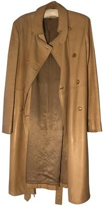Martine Sitbon Beige Leather Coat for Women