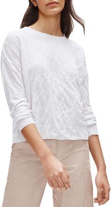 Eileen Fisher Metallic Fiber Blend Crewneck Box Top Sweater