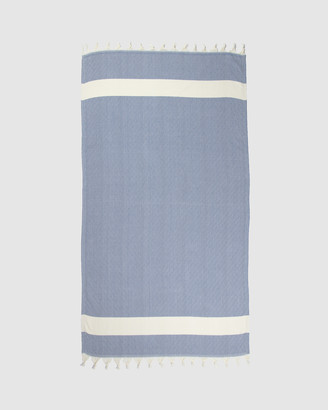 Tolu Australia - Women's White Towels - Candid Turkish Towel - Size One Size, 100cm at The Iconic