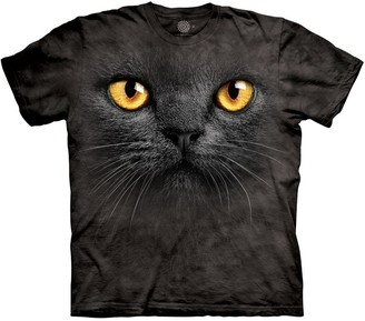 The Mountain Men's Big Face Black Cat T-Shirt Small