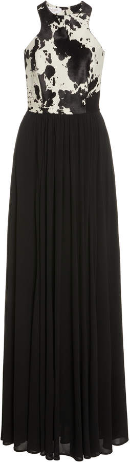 Michael Kors Belted Pleated Jersey Gown