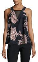 MinkPink Metallique Floral Tank Top