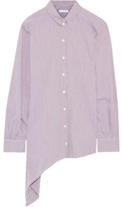 IRO Uneal Asymmetric Striped Cotton-blend Shirt